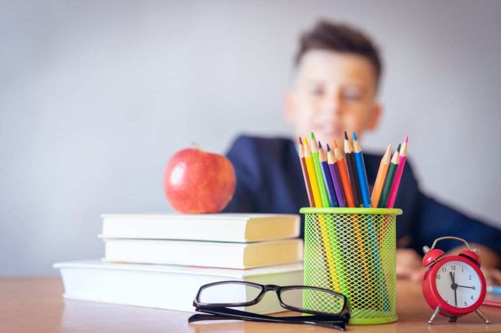 Colourful kid desk